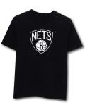 NK428 ジュニア NBA ブルックリン・ネッツ Tシャツ Brooklyn Nets キッズ トップス 黒白 【メール便対応】