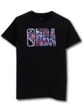 NK431 ジュニア NBA ロゴマン Tシャツ Logo Basketball T-Shirt キッズユース トップス 黒青赤 【メール便対応】