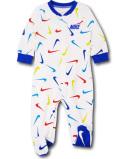 BT749 【メール便対応】 ベビー Nike Infant Coverall ナイキ カバーオール 白青