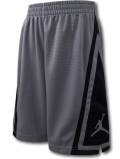 SK439 ジュニア ジョーダン バスケットボールショーツ Jordan Franchise Shorts キッズ バスパン ダークグレー黒 【メール便対応】
