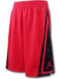 SK440 ジュニア ジョーダン バスケットボールショーツ Jordan Franchise Shorts キッズ バスパン 赤黒 【メール便対応】