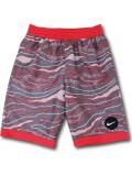 PK132 ジュニア ナイキ スイムパンツ Nike Youth Swim Shorts キッズ ユース インナー付き 水着 ダークグレー赤 【メール便対応】