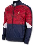 HJ097 メンズ ジョーダン ナイロンジャケット Air Jordan FIBA Track Jacket トラックジャケット 紺赤メタリックゴールド【ルーズフィット】