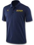 JP267 メンズ ジョーダン NCAA ミシガン大学 ウルヴァリンズ カレッジポロシャツ Jordan Michigan Wolverines Polo 紺黄色【ドライフィット】