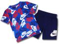 BP001 キッズ 子供用 ナイキ Tシャツ&ハーフパンツ セットアップ Nike Toddler Set 青紺白 【メール便対応】