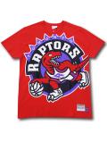 NB560 メンズ NBA トロント・ラプターズ Tシャツ Mitchell & Ness Toronto Raptors T-Shirt ミッチェルアンドネス 赤紫 【メール便対応】