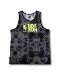 NB559 メンズ NBA ロゴマン タンクトップ Logo Basketball Tank ノースリーブ ダークグレー黒黄緑 【メール便対応】