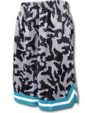 SK443 ジュニア アンドワン バスケットボール メッシュショーツ And1 Youth Shorts キッズ ユース バスパン 灰黒ティール 【メール便対応】