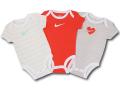 BY196 ベビー ナイキ ロンパース 3枚セット Nike Rompers Baby ベビー服 赤ちゃん アイボリーオレンジ灰 【メール便対応】