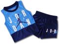 BP002 キッズ 子供用 ジョーダン トレーニング ノースリーブ&ショーツ セットアップ Jordan Toddler Set 水色紺白 【メール便対応】