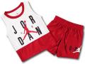 BP003 キッズ 子供用 ジョーダン トレーニング ノースリーブ&ショーツ セットアップ Jordan Toddler Set 白赤黒 【メール便対応】