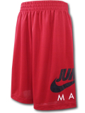 SK446 ジュニア ジョーダン バスケットボール ショーツ Jordan Jumpman Shorts キッズ ユース バスパン 赤黒白 【メール便対応】