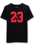 LL524 ジュニア ジョーダン Tシャツ Jordan Youth T-Shirt キッズ ユース トップス 黒赤 【メール便対応】