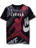 LL525 ジュニア ジョーダン Tシャツ Jordan Youth T-Shirt キッズ ユース トップス 黒白赤 【メール便対応】