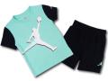 BP006 キッズ 子供用 ジョーダン Tシャツ&ハーフパンツ セットアップ Jordan Toddler Set エメラルドグリーン黒白 【メール便対応】