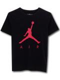 LL359 【メール便対応】 キッズ Jordan Jumpman Air ジョーダン Tシャツ 黒赤