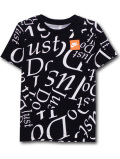 NK301 【メール便対応】 キッズ Nike Just Do It. ナイキ Tシャツ 黒白オレンジ