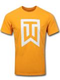 KL610 メンズ ナイキ タイガー・ウッズ Tシャツ Nike Tiger Woods TW T-Shirt 黄色白【ドライフィット】 【メール便対応】