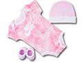 BH873 べビー ナイキ ロンパース3点セット Nike Infant Set 帽子 靴下 ギフトセット ピンク白【箱付き】