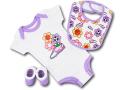 BH871 べビー ナイキ ロンパース3点セット Nike Infant Set スタイ 靴下 ギフトセット 白紫【箱付き】