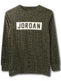 LL531 ジュニア ジョーダン ロングスリーブTシャツ Jordan Youth Long Sleeve T-Shirt キッズ ユース 長袖 オリーブグリーン【ドライフィット】 【メール便対応】