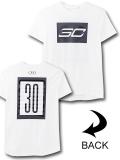 NK433 ジュニア アンダーアーマー ステフィン・カリー Tシャツ Under Armour Curry SC30 T-Shirt キッズ ユース トップス 白ダークグレー 【メール便対応】