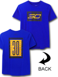 NK434 ジュニア アンダーアーマー ステフィン・カリー Tシャツ Under Armour Curry SC30 T-Shirt キッズ ユース トップス 青黒黄色 【メール便対応】