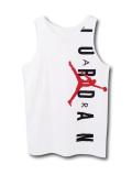 KT096 【メール便対応】 キッズ Jordan Tank ジョーダン タンクトップ 白黒赤
