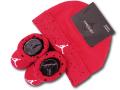BA637 ベビー ジョーダン 帽子&ソックス セット Jordan Infant Set 赤ちゃん 靴下 赤黒白