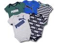 BO032 ベビー プーマ ロンパース 5枚セット Puma Rompers Baby ベビー服 赤ちゃん 灰紺モスグリーン