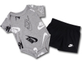 BY198 ベビー ナイキ ロンパース&パンツ セットアップ Nike Rompers Baby ベビー服 赤ちゃん 灰黒白 【メール便対応】