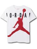 LL529 ジュニア ジョーダン Tシャツ Jordan Youth Jumpman T-Shirt キッズ ユース トップス 白赤黒 【メール便対応】