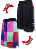 SK447 ジュニア ナイキ リバーシブル メッシュショーツ Nike Youth Reversible Shorts キッズ バスパン 黒赤青 【メール便対応】