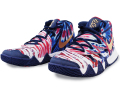 "KS778 キッズ/ジュニア Nike Kyrie Irving Kybrid S2 (PS) ""Tie Dye USA"" ナイキ カイリー・アービング バスケットシューズ バッシュ カイブリッド ブルーボイド白メタリックゴールド"