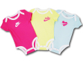 BY202 ベビー ナイキ ロンパース 3枚セット Nike Rompers Baby ベビー服 赤ちゃん ピンク黄色アイスブルー 【メール便対応】