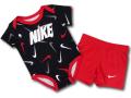 BY200 ベビー ナイキ ロンパース&パンツ セットアップ Nike Rompers Baby ベビー服 赤ちゃん 黒赤白 【メール便対応】