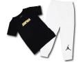 BP010 キッズ 子供用 ジョーダン Tシャツ&ロングパンツ セットアップ Jordan Toddler Set 黒白メタリックゴールド