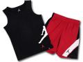 BP012 キッズ 子供用 ジョーダン タンクトップ&ショーツ セットアップ Jordan Toddler Set 黒赤白 【メール便対応】