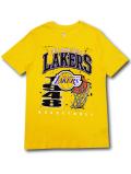 NB564 メンズ NBA ロサンゼルス・レイカーズ Tシャツ UNK Los Angeles Lakers アンク 黄色黒 【メール便対応】