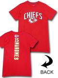 KO457 メンズ NFL チーフス パトリック・マホームズ Tシャツ Kansas City Chiefs Patrick Mahomes アメフト 赤白黒 【メール便対応】
