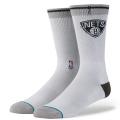 "KK645 【メール便対応】 Stance NBA Arena Logo Crew Nets Socks スタンス ""ネッツ"" クルーソックス ライトグレー"