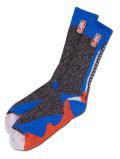 SS136 【メール便対応】 For Bare Feet NBA バスケットボール クルーソックス Basketball Crew Socks 黒水色オレンジ