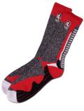SS135 【メール便対応】 For Bare Feet NBA バスケットボール クルーソックス Basketball Crew Socks 黒赤白