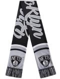 HO743 NBA Brooklyn Nets Scarf ブルックリン・ネッツ マフラー 黒灰
