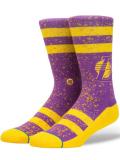 SS070 【メール便対応】 Stance NBA Lakers Everyday Light Cushion Crew Socks スタンス レイカーズ クルーソックス 紫黄色