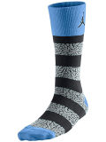 SS073 【メール便対応】 Air Jordan Elephant Striped Crew Socks ジョーダン クルーソックス 黒灰水色