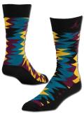SS074 【メール便対応】 Air Jordan Retro 7 Crew Socks ジョーダン クルーソックス 黒マルチカラー