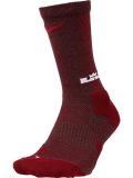 SS079 【メール便対応】 Nike LeBron Elite Crew Socks ナイキ レブロン バスケットボール クルーソックス ワインレッド赤