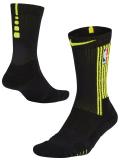 """SS080 【メール便対応】 Nike NBA """"アトランタ・ホークス"""" Atlanta Hawks Elite Quick Crew Socks ナイキ クルーソックス 黒ネオンイエロー"""