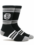 SS154 【メール便対応】 PKWY NBA ブルックリン・ネッツ Brooklyn Nets Stripe Crew Socks クルーソックス